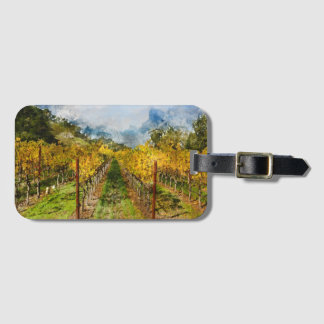 Rows of Grapevines in Napa Valley California Luggage Tag