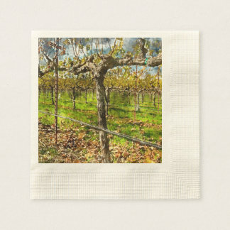 Rows of Grapevines in Napa Valley California Paper Napkin