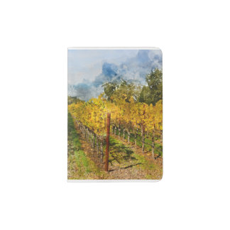 Rows of Grapevines in Napa Valley California Passport Holder