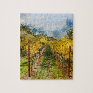 Rows of Grapevines in Napa Valley California Puzzles