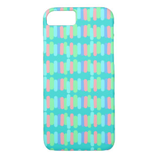Rows of pastel mini stripes iPhone 8/7 case