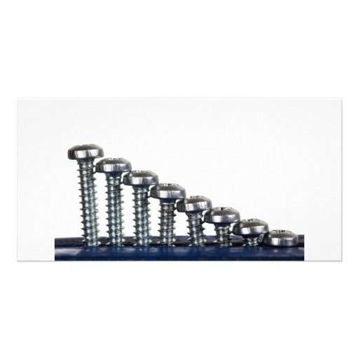 Rows of screws picture card