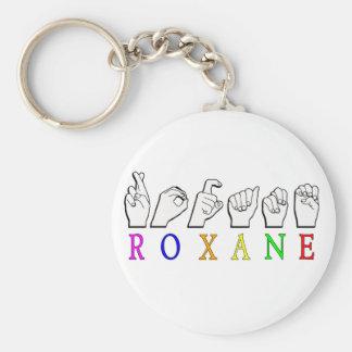 Roxane KEYCHAIN FINGERSPELLED ASL SIGN