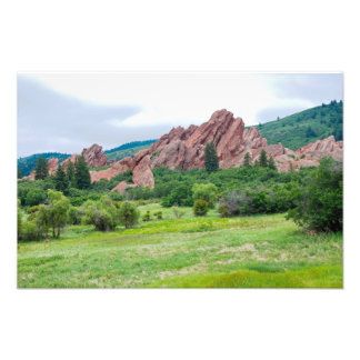 Roxborough Meadows Mountains and Spires Photo Print
