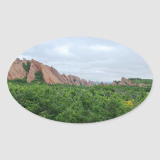 Roxborough Valley Woodland and Rock Forms Oval Sticker