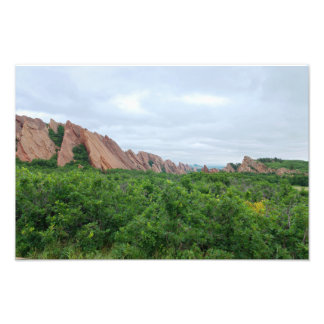 Roxborough Valley Woodland and Rock Forms Photo Print