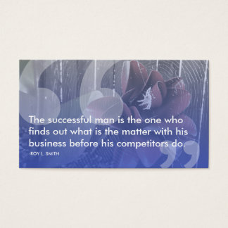 roy l smith success quote business card