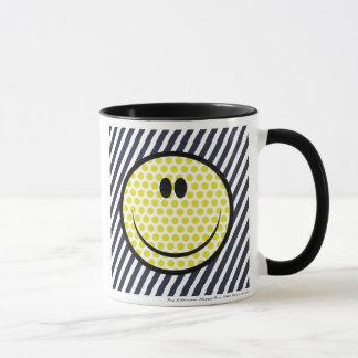 Roy Lichtenstein happy face mug