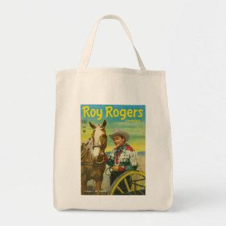 ROY ROGERS Tote Bag 1951 Comics Cowboy TRIGGER