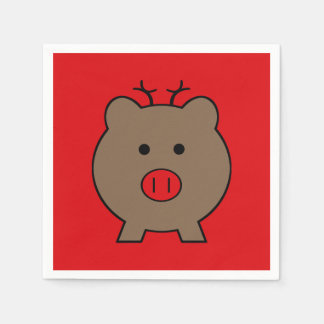 ~ Roy the Christmas Pig Paper Napkins