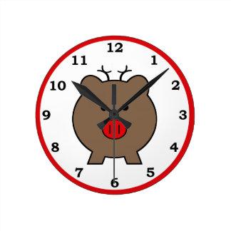 Roy the Christmas Pig Wall Clock