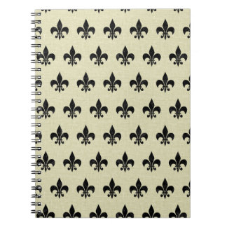 ROYAL1 BLACK MARBLE & BEIGE LINEN NOTEBOOKS