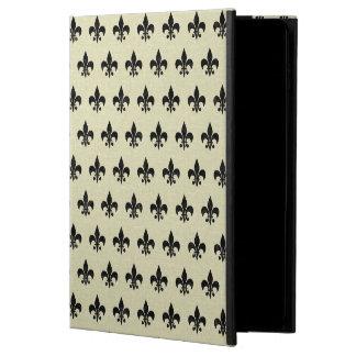 ROYAL1 BLACK MARBLE & BEIGE LINEN POWIS iPad AIR 2 CASE