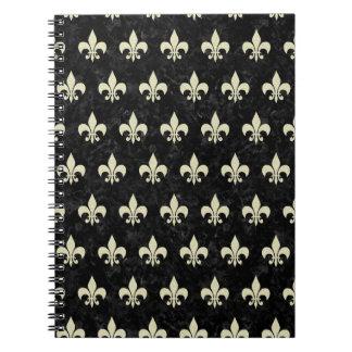 ROYAL1 BLACK MARBLE & BEIGE LINEN (R) NOTEBOOKS