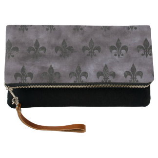 ROYAL1 BLACK MARBLE & BLACK WATERCOLOR CLUTCH