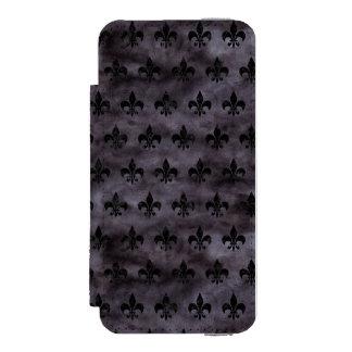 ROYAL1 BLACK MARBLE & BLACK WATERCOLOR INCIPIO WATSON™ iPhone 5 WALLET CASE