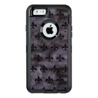 ROYAL1 BLACK MARBLE & BLACK WATERCOLOR OtterBox DEFENDER iPhone CASE