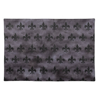 ROYAL1 BLACK MARBLE & BLACK WATERCOLOR PLACEMAT