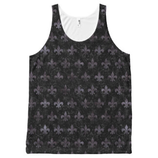 ROYAL1 BLACK MARBLE & BLACK WATERCOLOR (R) All-Over-Print TANK TOP
