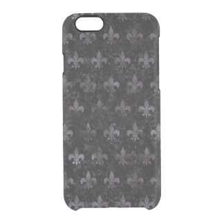 ROYAL1 BLACK MARBLE & BLACK WATERCOLOR (R) CLEAR iPhone 6/6S CASE