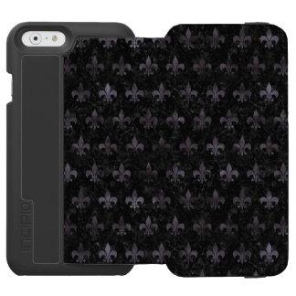 ROYAL1 BLACK MARBLE & BLACK WATERCOLOR (R) INCIPIO WATSON™ iPhone 6 WALLET CASE