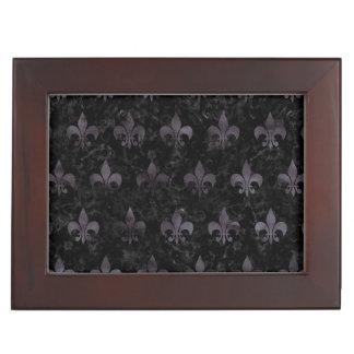 ROYAL1 BLACK MARBLE & BLACK WATERCOLOR (R) KEEPSAKE BOX
