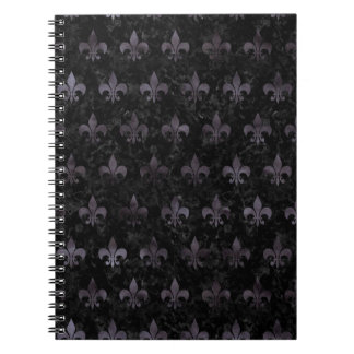 ROYAL1 BLACK MARBLE & BLACK WATERCOLOR (R) NOTEBOOKS