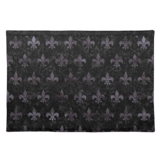 ROYAL1 BLACK MARBLE & BLACK WATERCOLOR (R) PLACEMAT