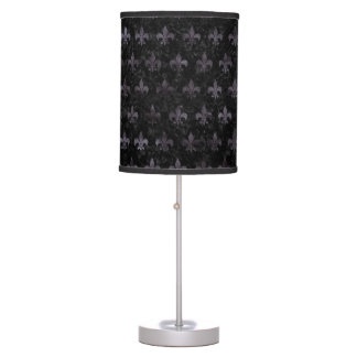 ROYAL1 BLACK MARBLE & BLACK WATERCOLOR (R) TABLE LAMP