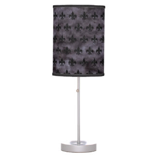 ROYAL1 BLACK MARBLE & BLACK WATERCOLOR TABLE LAMP