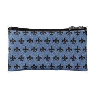 ROYAL1 BLACK MARBLE & BLUE DENIM COSMETIC BAG