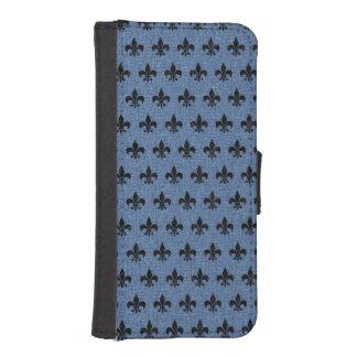 ROYAL1 BLACK MARBLE & BLUE DENIM iPhone SE/5/5s WALLET CASE