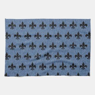 ROYAL1 BLACK MARBLE & BLUE DENIM KITCHEN TOWEL