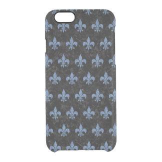 ROYAL1 BLACK MARBLE & BLUE DENIM (R) CLEAR iPhone 6/6S CASE