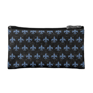 ROYAL1 BLACK MARBLE & BLUE DENIM (R) COSMETIC BAG