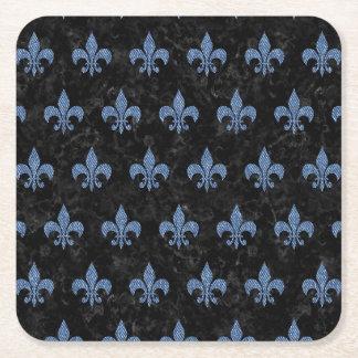 ROYAL1 BLACK MARBLE & BLUE DENIM (R) SQUARE PAPER COASTER