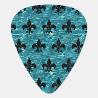 ROYAL1 BLACK MARBLE & BLUE-GREEN WATER GUITAR PICK