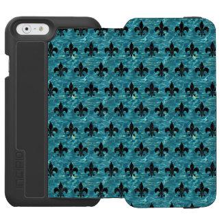 ROYAL1 BLACK MARBLE & BLUE-GREEN WATER INCIPIO WATSON™ iPhone 6 WALLET CASE