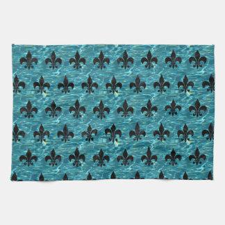 ROYAL1 BLACK MARBLE & BLUE-GREEN WATER KITCHEN TOWEL