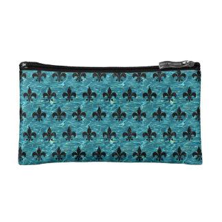 ROYAL1 BLACK MARBLE & BLUE-GREEN WATER MAKEUP BAG
