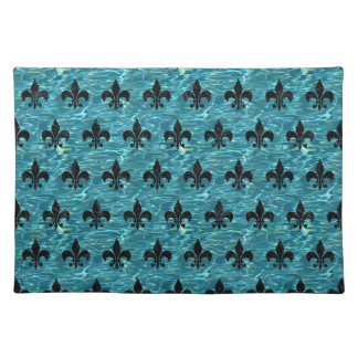 ROYAL1 BLACK MARBLE & BLUE-GREEN WATER PLACEMAT