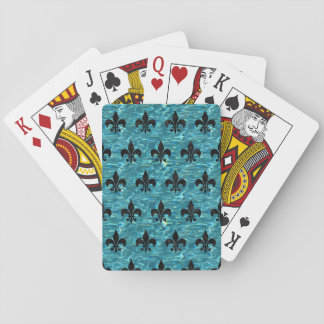 ROYAL1 BLACK MARBLE & BLUE-GREEN WATER PLAYING CARDS
