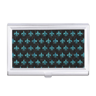 ROYAL1 BLACK MARBLE & BLUE-GREEN WATER (R) BUSINESS CARD HOLDER