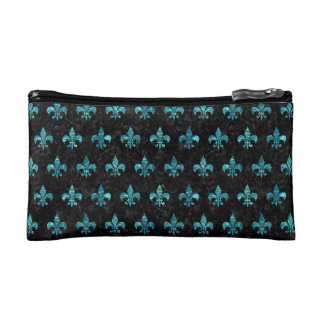 ROYAL1 BLACK MARBLE & BLUE-GREEN WATER (R) COSMETIC BAGS