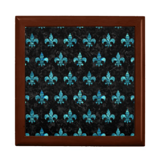 ROYAL1 BLACK MARBLE & BLUE-GREEN WATER (R) GIFT BOX