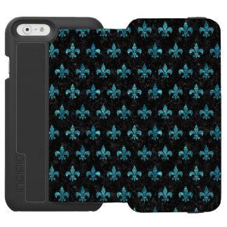 ROYAL1 BLACK MARBLE & BLUE-GREEN WATER (R) INCIPIO WATSON™ iPhone 6 WALLET CASE