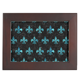 ROYAL1 BLACK MARBLE & BLUE-GREEN WATER (R) KEEPSAKE BOX