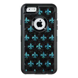 ROYAL1 BLACK MARBLE & BLUE-GREEN WATER (R) OtterBox DEFENDER iPhone CASE