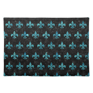 ROYAL1 BLACK MARBLE & BLUE-GREEN WATER (R) PLACEMAT
