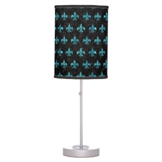 ROYAL1 BLACK MARBLE & BLUE-GREEN WATER (R) TABLE LAMP